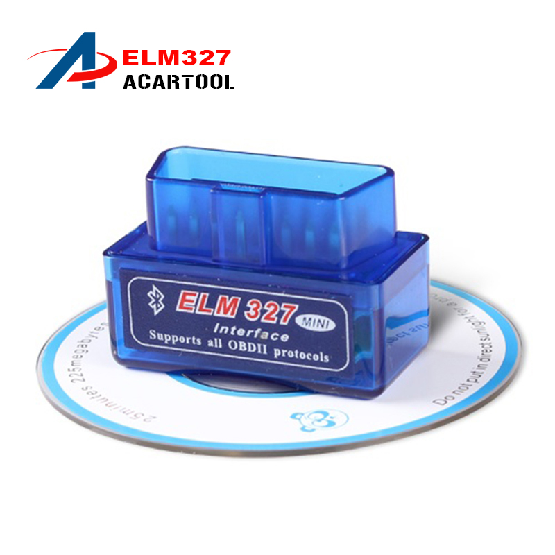 Latest Version Super Mini ELM 327 Bluetooth V2.1 OBD2 Scanner ELM327 OBD 2 Car Diagnostic Interface mini bluetooth elm327 - Acartool Store store