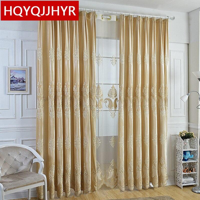 Luxury European Style High Quality Velvet Blackout Curtain For Living Room Curtain Classic Luxury Custom Curtain For Bedroom