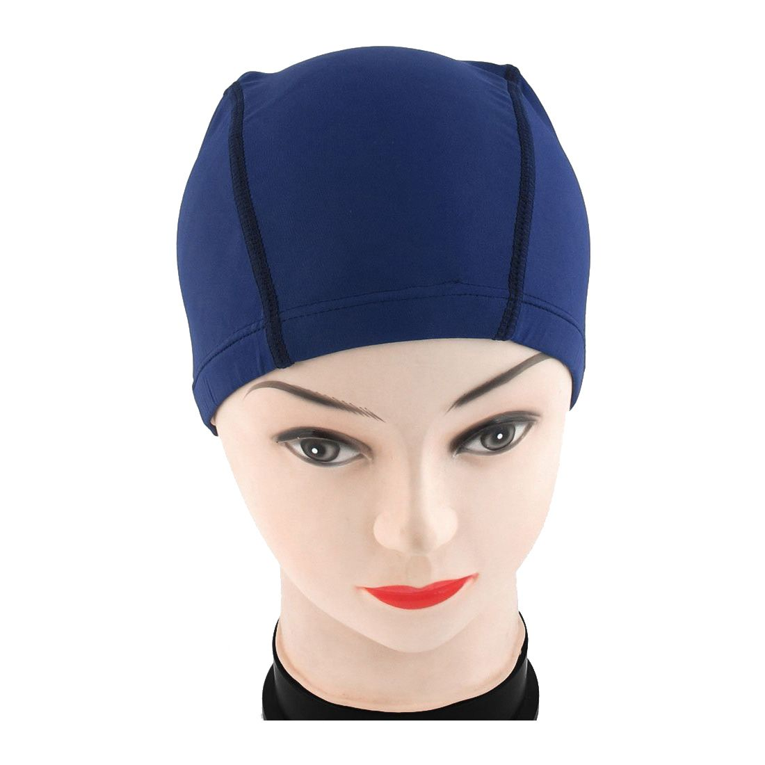60c3d694068 Polyester Men Women Sporty Flexible Cloth Swimming Cap Swim Hat Blue-in Swimming  Caps from Sports & Entertainment on Aliexpress.com | Alibaba Group