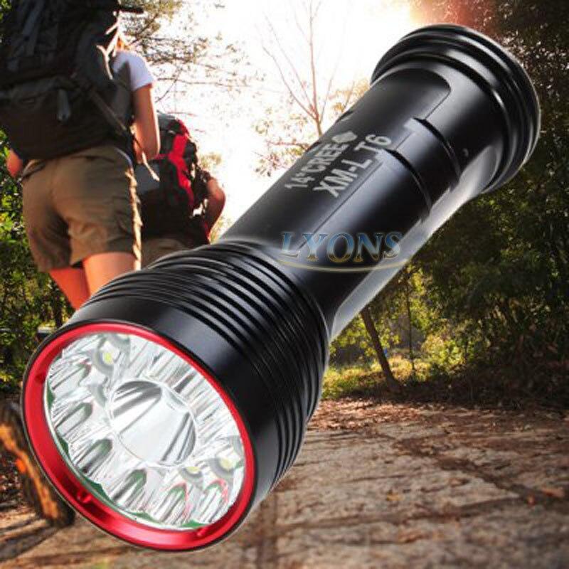 ФОТО SkyRay SKY RAY KING Sy-007 14T6 14x  XM-L T6 25000 Lumens 3-Mode LED Flashlight Torch Lamp big power