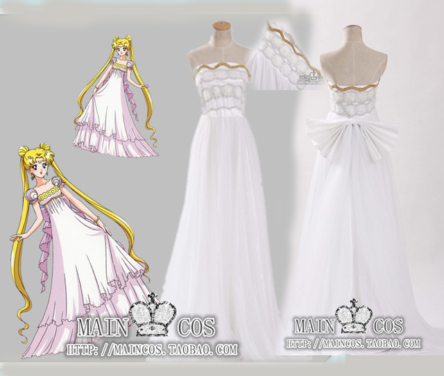 Sailor Moon Princess Serenity Tsukino Usagi Dress Cosplay Costume ...