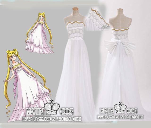 sailor moon princesa serenity tsukino usagi vestido cosplay traje