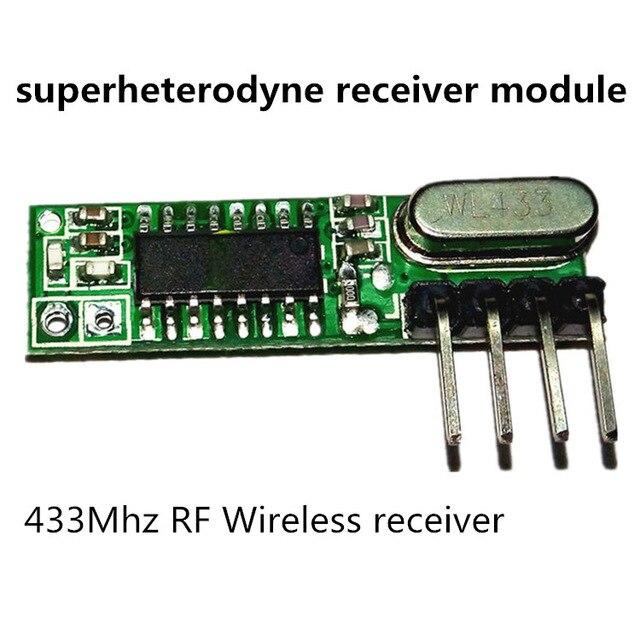 1 ensemble superhétérodyne 433Mhz RF émetteur et récepteur kit de Module petite taille pour Arduino uno kits de bricolage 433 mhz télécommandes 1