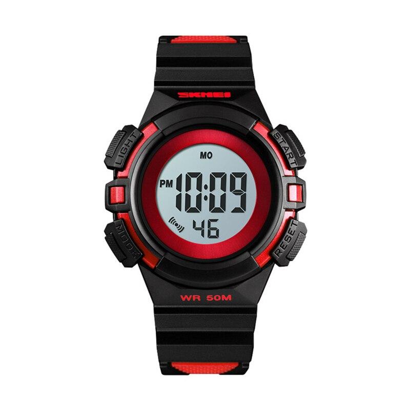 SKMEi Children'S Watch Sports Style Digital Watch Fashion Life Waterproof Pu Wristband Date Luminous Alarm Watch 1485,Red