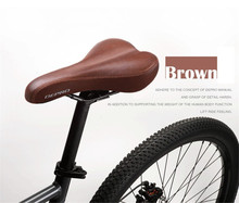 DEPRO Retro Vintage Leather Bicycle Saddle Seat Custion Road Bike MTB Sport Saddle Brown Bicycle Cycling Saddle Bike Seat цена