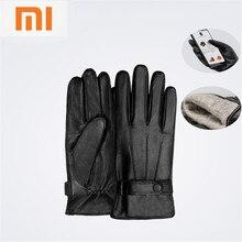 Xiaomi Mijia Qimian овчины Сенсорный экран перчатки для женщин мужчин испанский сырой зима осень утолщаются теплые для вождения, Пешие прогулки, катание на лыжах
