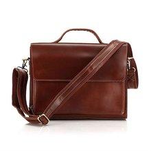 ยี่ห้อออกแบบใหม่100%วัวแท้หนังผู้ชายธุรกิจกระเป๋าแล็ปท็อปกระเป๋าไหล่ของMessenger Bag # 6033X