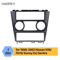 Harfey 1DIN Dashboard Car Radio Fascia Frame For Nissan N16/ Fb15/ Sunny Ex/ Sentra 1998 1999 2000 2001 2002 Cover Trim