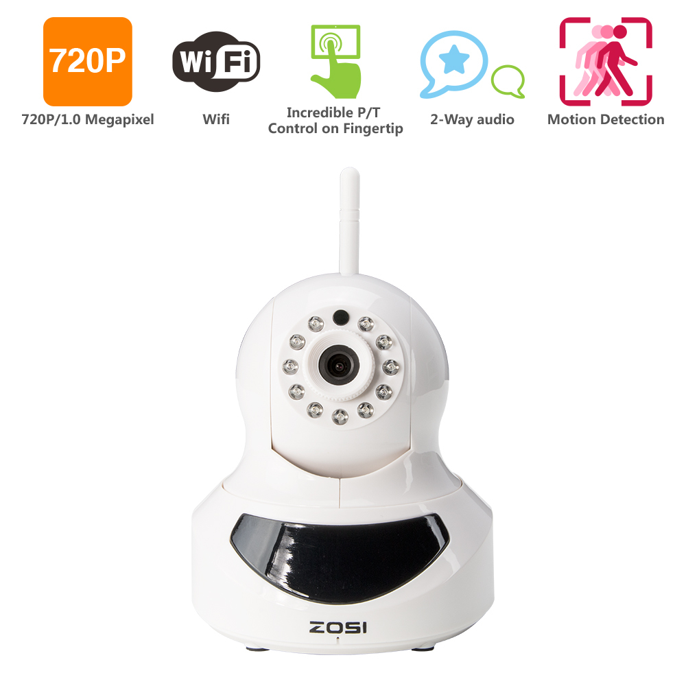 ФОТО ZOSI 720P Full HD Onvif  IP Camera 1.0MP Megapixel Wireless Wifi P2P Pan&Tilt Network Home Security CCTV Camera TF Card Storage