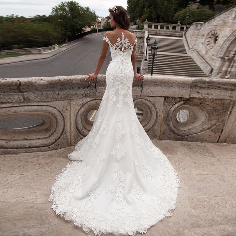 Mermaid Wedding Dresses Turkey 2019 Appliques Lace Custom Made Bridal Dress Wedding Gown vestidos de noiva Customized Plus size