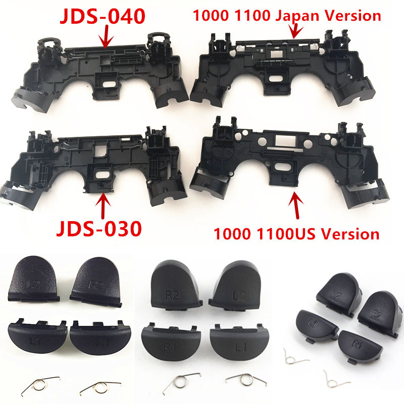 L1 R1+L2 R2 Trigger Buttons+R1 L1 Key Holder Internal Shock Motor Support For PlayStation4 PS4 Pro Slim JDS 030 JDS 040 Repair цена