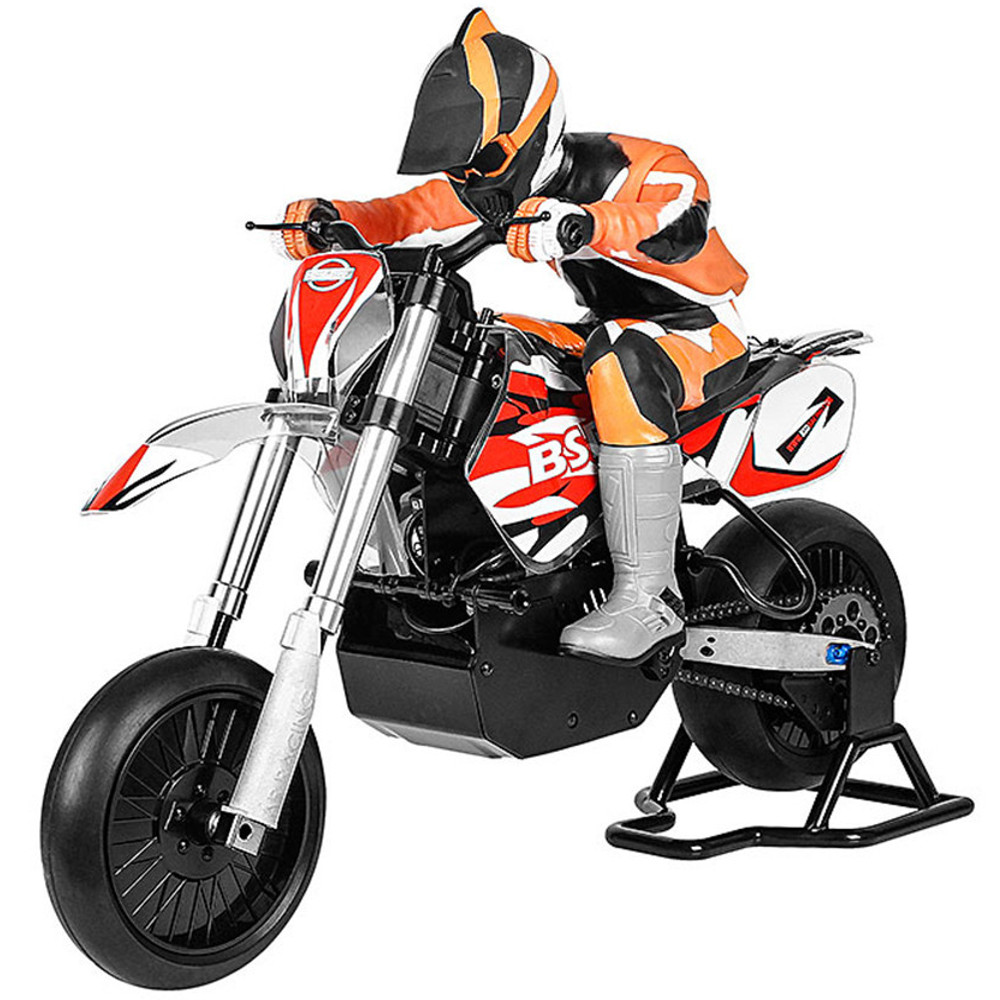 BSD Racing 404T 1/4 2.4G 4WD 60km/h Brushless RC Motorcycle Electric On-Road Car Model