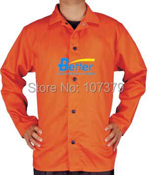 Orange Color Flame Retardant Welding Jackets Fire Retardant Cotton Coverall FR Cotton Welder Clothing guess легкое пальто