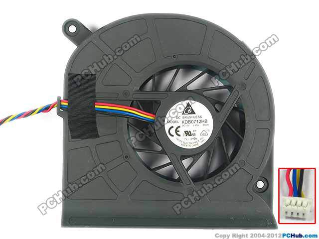 New for ASUS DELTA KDB0712HB-D009 KDB0712HB CPU COOLING fan with thermal paste