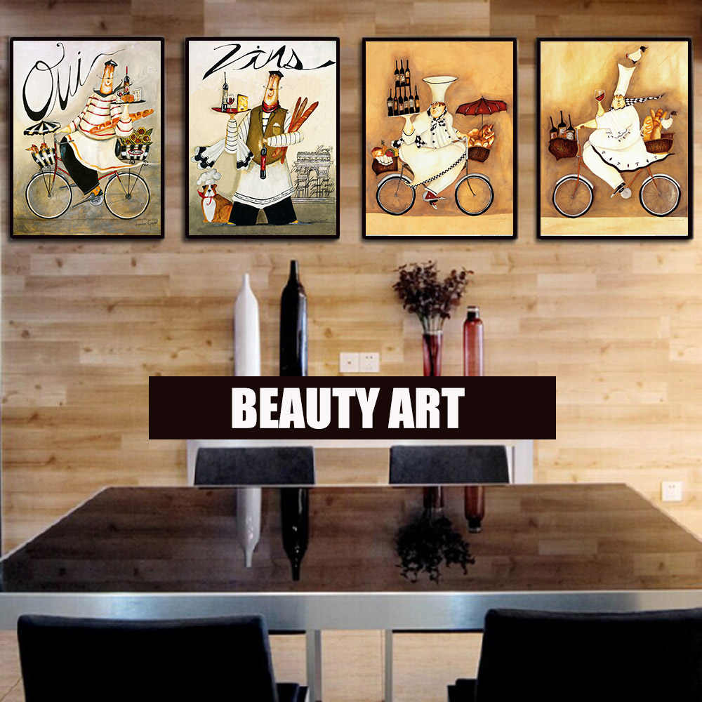 Canvas Painting 4 Piece Fashion Heels Vintage Wall Painting Decorativos Art Picture Prints Pictures for Kitchen Unframed