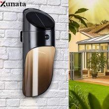 1PC LED Solar Light Microwave Sensor Wall Lamp Outdoor Waterproof IP65 For Pathway Garden Fence Lighting