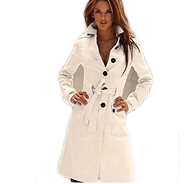 2015 Мода Однобортный Траншеи Верхняя Одежда Зима Шерстяное Пальто Нерегулярные Воротник Пальто abrigos mujer BG941