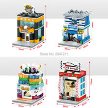 hot deal buy hot compatible lepin city street view building blocks famous brand digital video store sports play room repair shop blocks toys