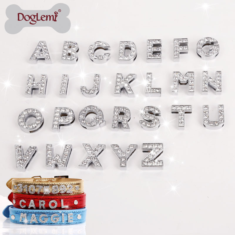 doglemi 10pcslotmixed letters or numberwholesale diy personalized name letters pet