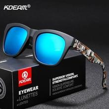 Heightened Comfort Men Sunglasses Polarized KDEAM Such Colorful Fashion Sun Glasses Square Surfboard Anti-UVrays Sunglass