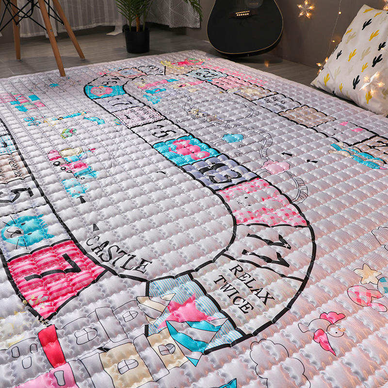 Tapis de jeu bébé coton TREENDPOOL enfants 150x200 CM tapis de jeu Ludo tapis lavables en Machine pour salon/chambre anti-dérapant - 3