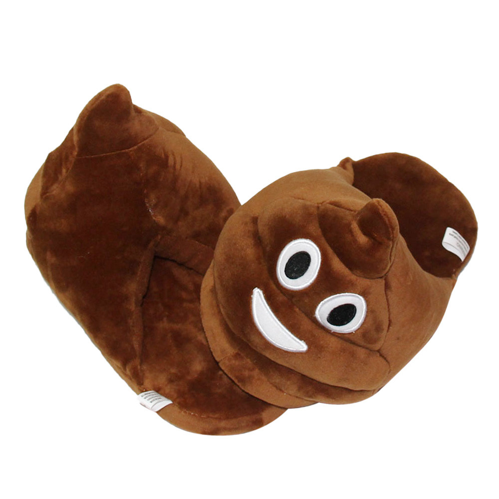 Poop Emoji Slippers 2