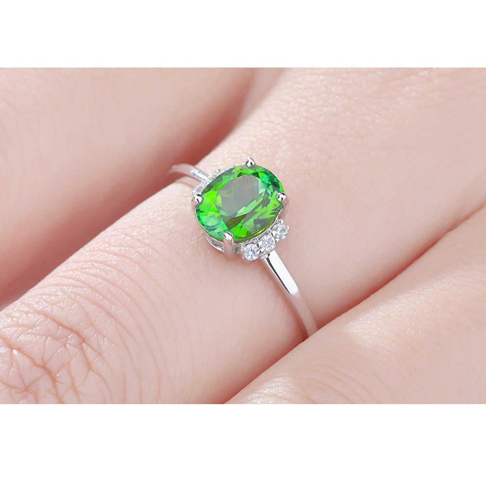 Qevila เครื่องประดับ Fine 2019 แหวนหมั้นสำหรับผู้หญิง 925 เงินสเตอร์ลิงแหวนเปิดแหวน Femme Anillos Mujer