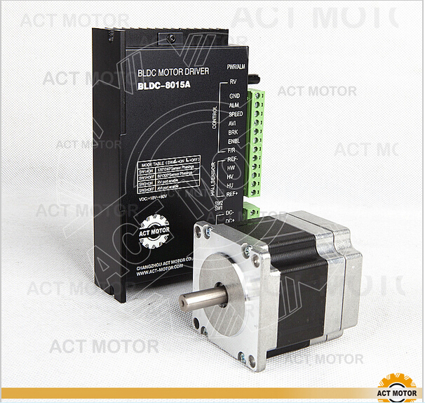 ACT Motor 1PC Nema23 Brushless DC Motor 57BLF01&1PC Driver BLDC-8015A 50V CNC free ship from germany act motor 1pc brushless dc motor driver bldc 8015a 24v 50v 45a peak 8000rpm max for nema17 23 34