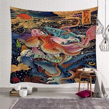 Cartoon Anime Print Wall Tapestry Home Decor Japanese  Wall Hanging Beach Hippie Blanket  Home Decor tapestry w3-new-Lo-5 butterfly print home decor wall hanging tapestry