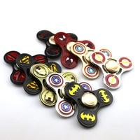 EDC Fidget Spinner Avengers DC Super Hero Tri Spinner Toy Iron Man Batman Flash Metal ADHD