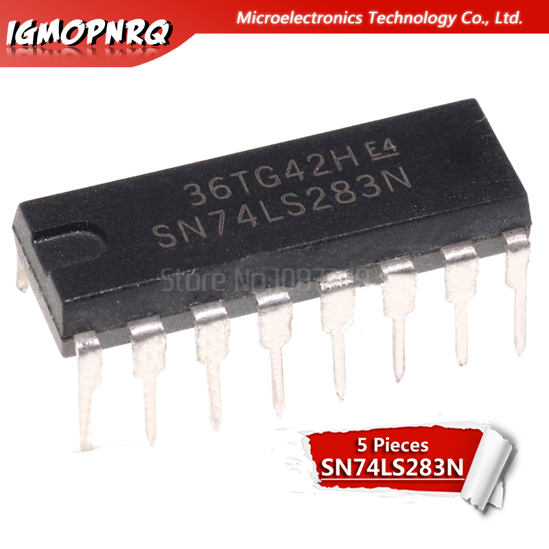 5PCS HD74LS283P DIP 74LS283 DIP16 SN74LS283N DM74LS283N New And Original IC