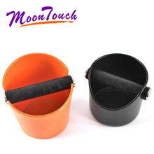 ABS Coffee Knock Box Espresso Grounds Container for Barista Non-slip Base Home Kitchen Coffee Knock Box with Detachable Rubber knock knock hello love flipbook
