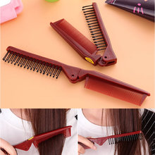 Dual purpose collapsible comb Detangling Comb Shower Hair Brush Salon Styling Tamer Tool travel portable Hot Selling