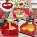 4 unids piezas de silicona molde de pastel 3D hornear molde de pastel DIY estilo creativo horneado hacer herramientas cuadradas de decoración de pasteles