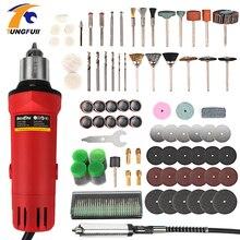 цена на EU 260W Rotary Tool Set Electric Mini Drill Engraver Kit Mini Grinder Power Tools With Accessories Electric Engraver Power Tool