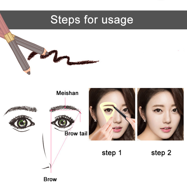 2 Pcs Eyebrow Stencils Reusable Eye Brow Shaping Template Drawing Guide Card DIY Makeup Tools Hot Mdf 2