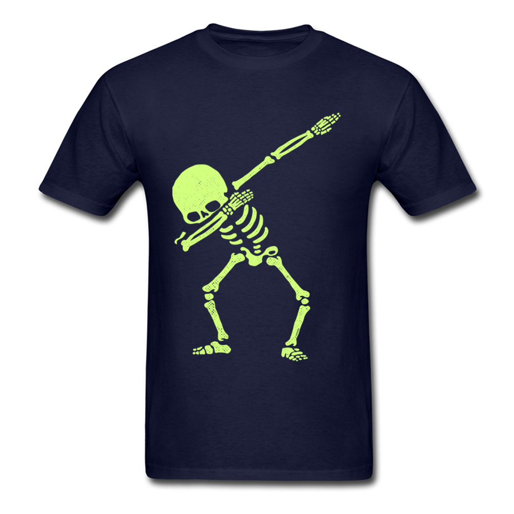 Naked Dabbing Skeleton Tshirt Bright Colors Happy Jazz DJ Rock Skull T Shirt For Men Hipster Happy Metal Band T Shirts in T Shirts from Men 39 s Clothing