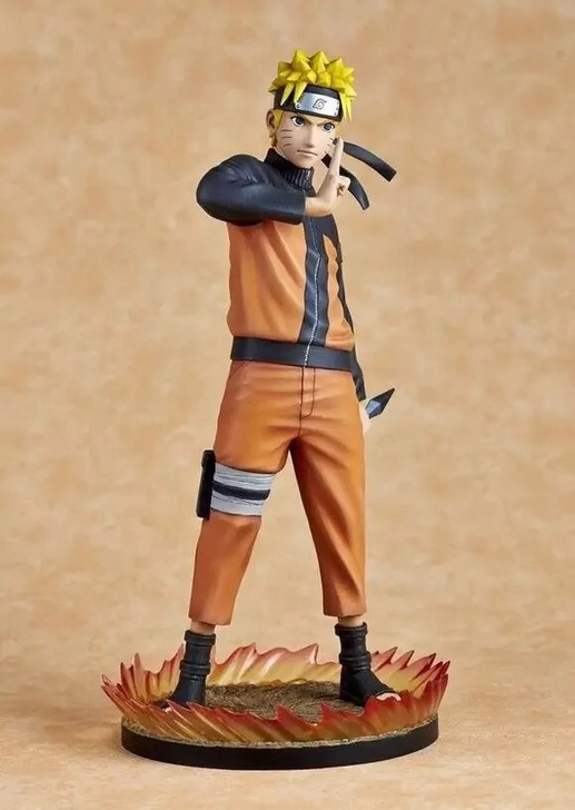 Huong Anime Figure 25 CM Naruto Shippuden Uzumaki Naruto 1/6 Scale Face Change PVC Action Figure Collectible Model Toy Doll-$5 11pcs set uzumaki naruto pvc action figures bijuu kyuubi kurama gaara shukaku utakata mini collectible dolls toy for children e