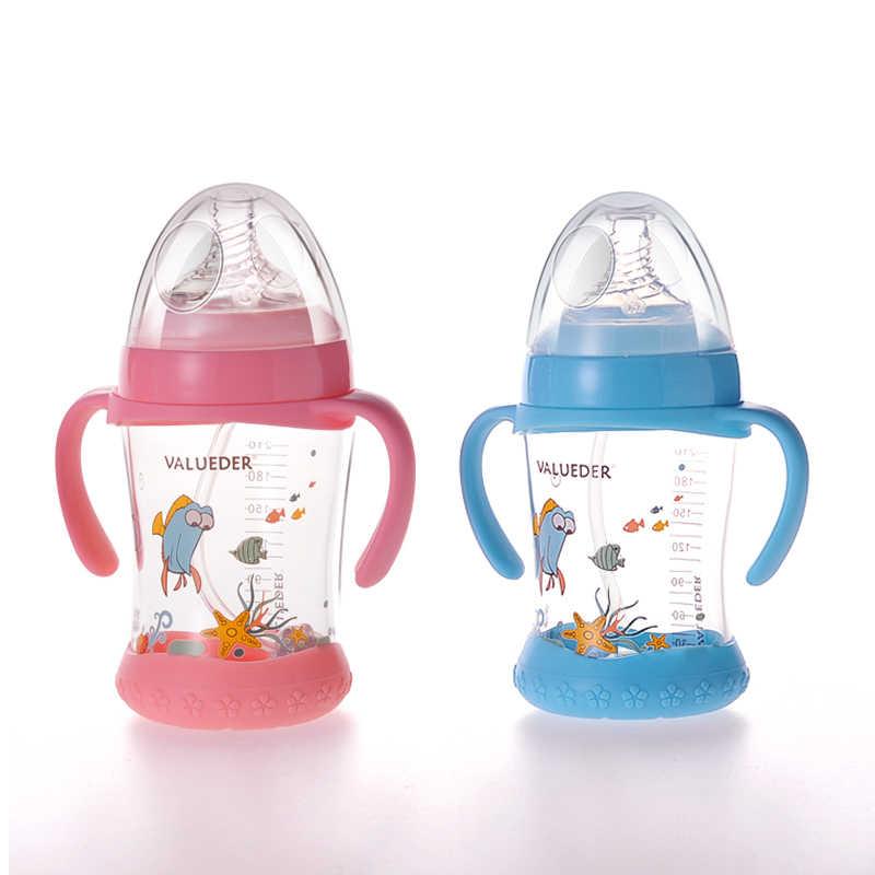 แก้วขวด 210 มิลลิลิตรสูง Borosilicate แก้วความร้อน Reasistant โปร่งใสลื่นเด็กนมขวด