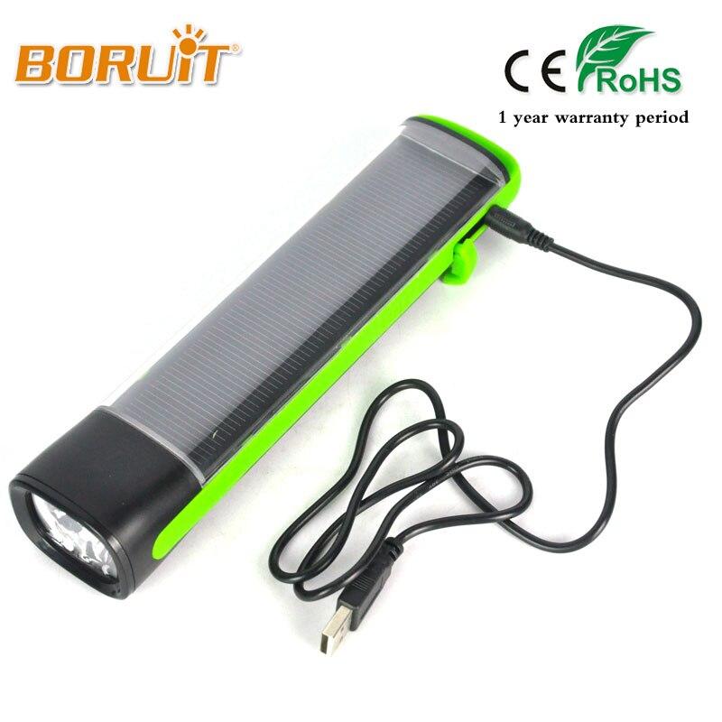 Boruit 1600lm 3 режима Мощность светодиодный фонарик Солнечный Перезаряжаемые USB Запасные Аккумуляторы для телефонов Факел Кемпинг Охота Свет Вс…