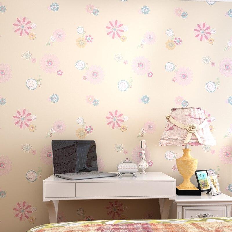 New Childrens Room Garden Flowers Wallpaper Sun Flower Girl - Girls flower bedroom wallpaper
