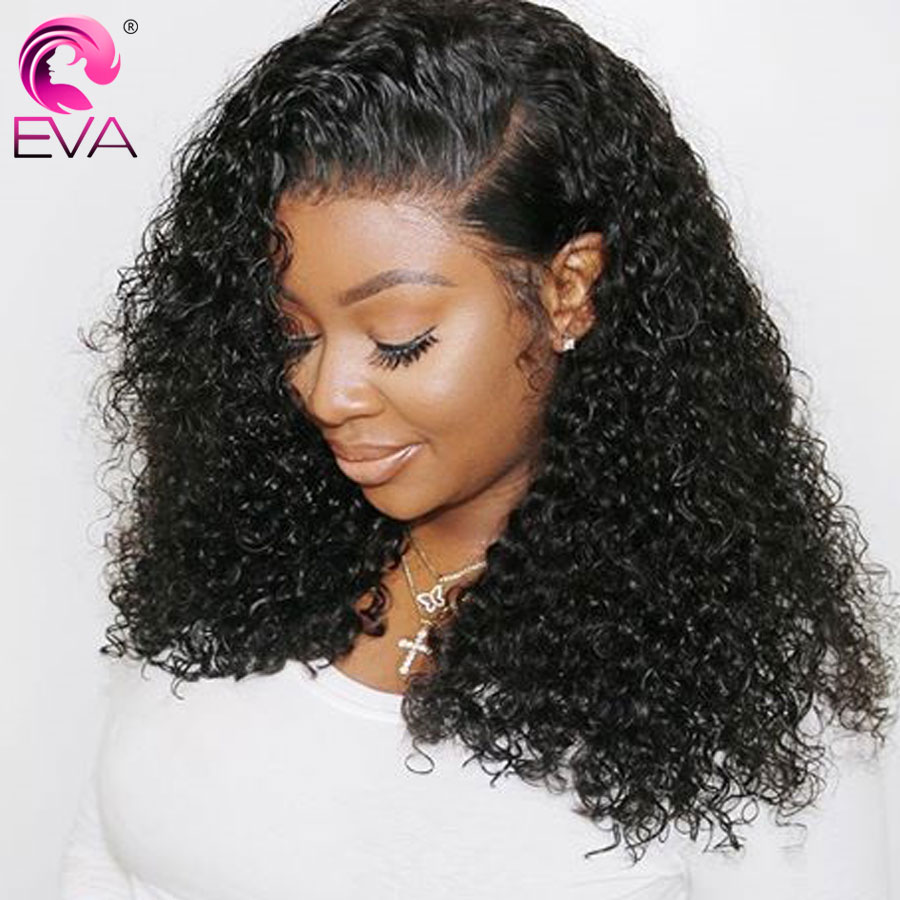 Eva Hair Short 13x6 Lace Front Human Hair Wigs Pre Plucked With Baby Hair Curly Lace