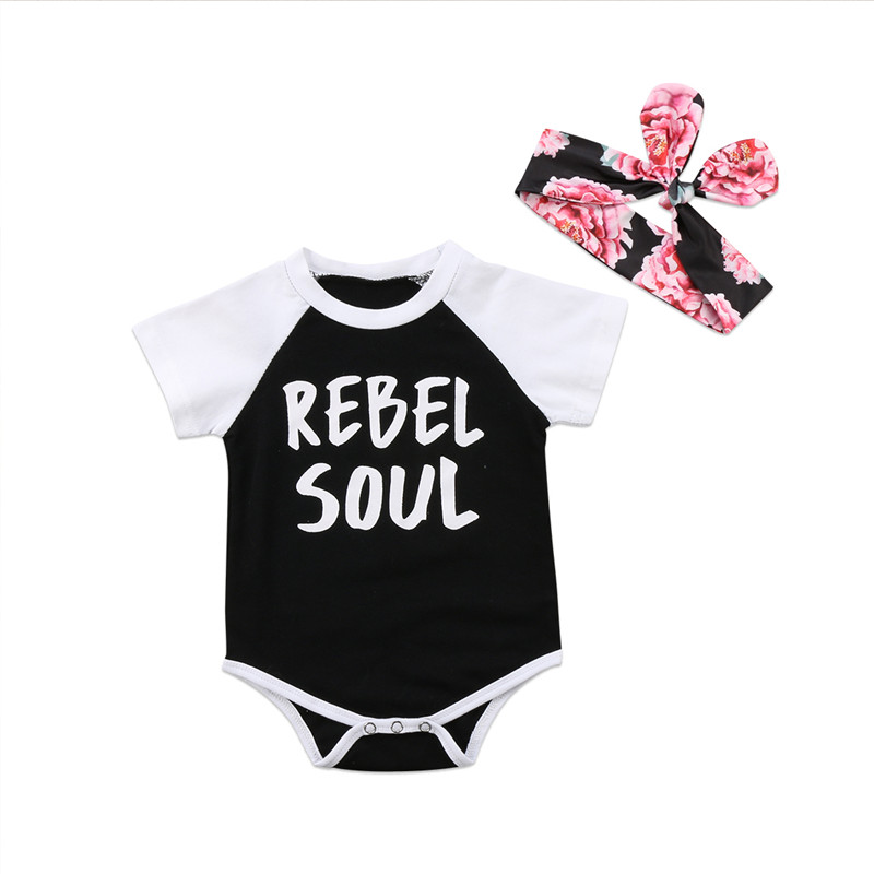 93446a5de 2018 Funny Letter Print Newborn Infant Baby Girl Clothing Cotton ...