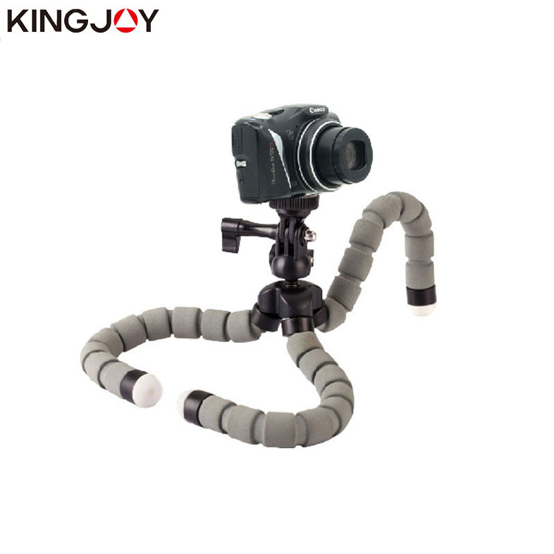 Kingjoy KT-600S Mini Tripod Octopus Para Movil икемді Mobile Tripe Желілік ұстағыш Gopro телефон камерасы үшін смартфон