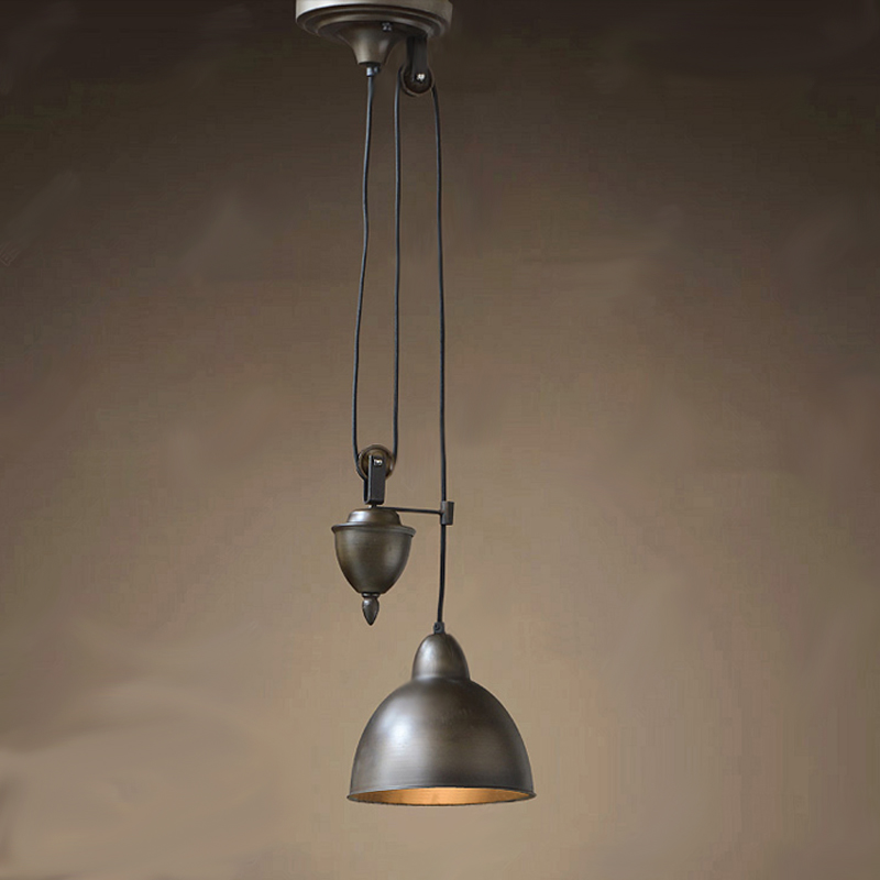 Iron Pulley Pendant Light Wrought