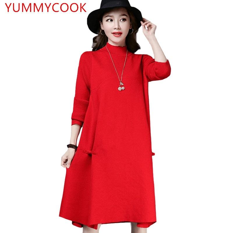 Taille red Demi Délicieux Haut Féminine Mot Couleur Solide Sweatera603 Creux Hiver Grande Un Gray Automne col black Robe Color Photo dark Type Tricot Cachemire Irgqgt