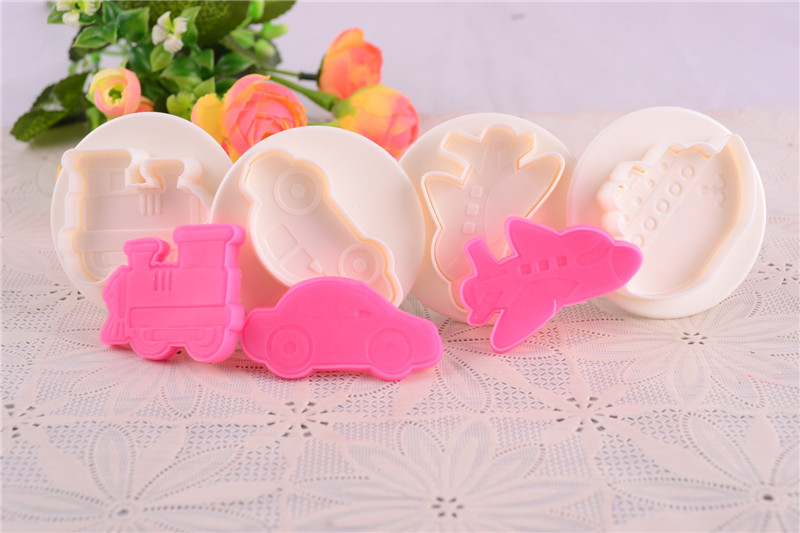 New Cartoon Steamer Plane Car 3D Shapes Cookie Cutter ...