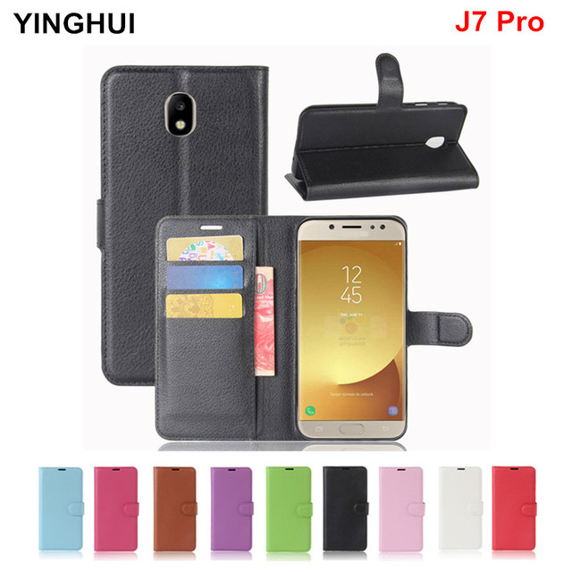 online retailer 94669 3fa3b US $3.93 20% OFF|For Samsung Galaxy J7 Pro Case Cover Wallet PU Leather  Case for Galaxy J7 Pro Coque Funda Capa Phone Cases J7pro Flip Cover-in  Flip ...