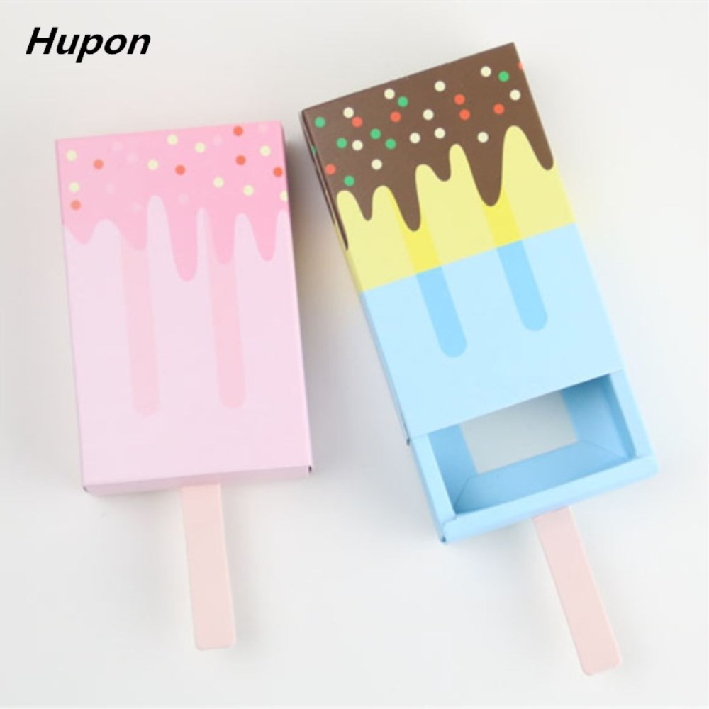 2pcs Gift Candy Boxes Baby Shower Ice Cream Shape Party Favor Box ...