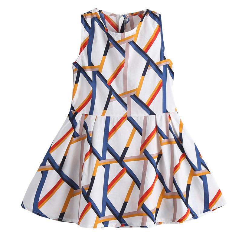 Dresses for Girls Sleeveless Vetement Children Girl Casual Style Children Dress Teenage Girls Clothes 6 8 10 12 13 14 Year 5